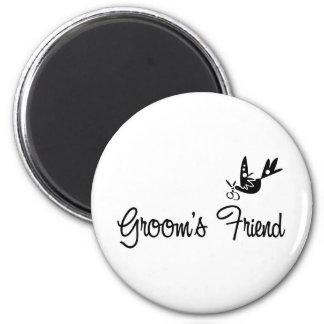 ToonDoveGroomsFriendblk Magnet