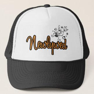 ToonDoveNewlywedOrange Trucker Hat