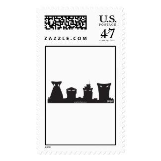 Toontown Buildings Disney Postage Stamp