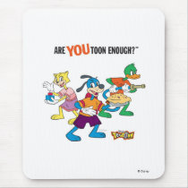 Toontown Flippy, Duck and Cat Are You Toon Enough Mouse Pad