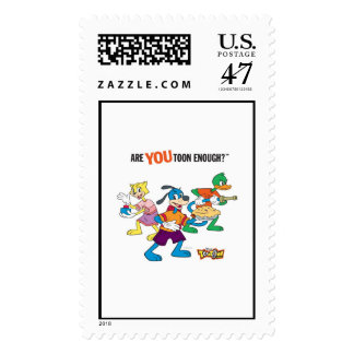 Toontown Flippy, Duck and Cat Are You Toon Enough Postage