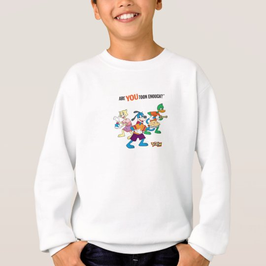 Toontown Flippy, Duck and Cat Are You Toon Enough Sweatshirt