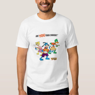 Toontown Flippy, Duck and Cat Are You Toon Enough Tee Shirt
