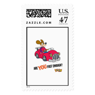 """Toontown Kart Racer """"Are you fast enough?"""" Disney Postage"""