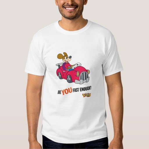 """Toontown Kart Racer """"Are you fast enough?"""" Disney Tees"""