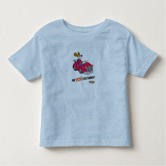 """Toontown Kart Racer """"Are you fast enough?"""" Disney Toddler T-shirt"""