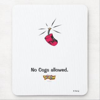 Toontown ningunos dientes permitió el diseño alfombrilla de ratón