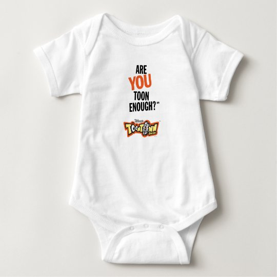 Toontown Official Logo Are You Toon Enough? Disney Baby Bodysuit