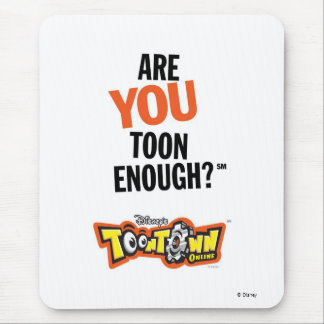 Toontown Official Logo Are You Toon Enough? Disney Mouse Pad