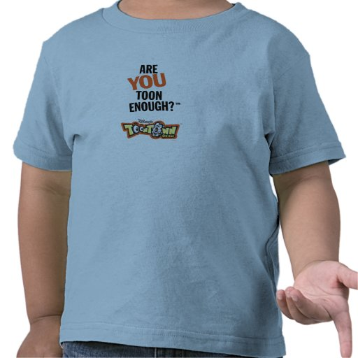 Toontown Official Logo Are You Toon Enough? Disney Tee Shirts