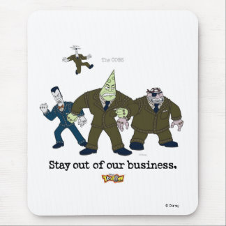 Toontown The Cogs Standing Disney Mouse Pad