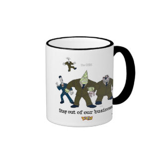 Toontown The Cogs Standing Disney Ringer Coffee Mug
