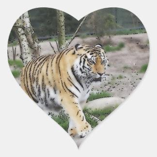 toony tiger heart sticker