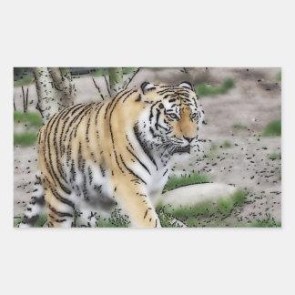 toony tiger rectangular sticker