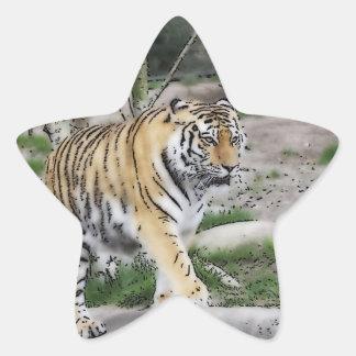 toony tiger star sticker