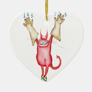 tooo caliente dirigir, fernandes tony adorno navideño de cerámica en forma de corazón
