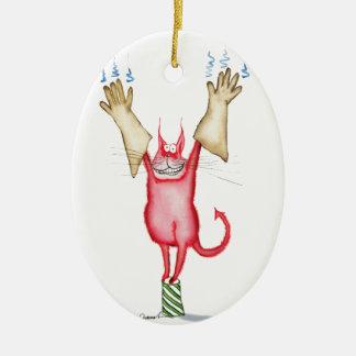 tooo caliente dirigir, fernandes tony adorno navideño ovalado de cerámica