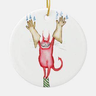 tooo caliente dirigir, fernandes tony adorno navideño redondo de cerámica