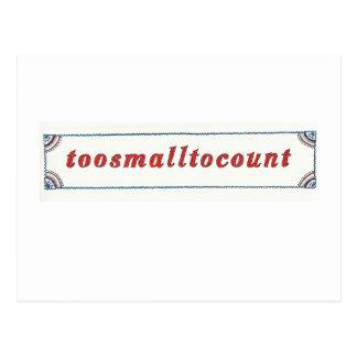 toosmalltocount Postcard