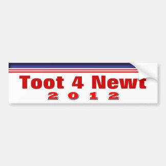 Toot 4 Newt 2012 Bumper Sticker