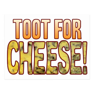 Toot For Blue Cheese Postcard