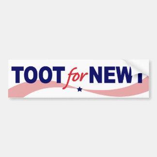 TOOT For NEWT Gingrich 2012 Bumper Sticker