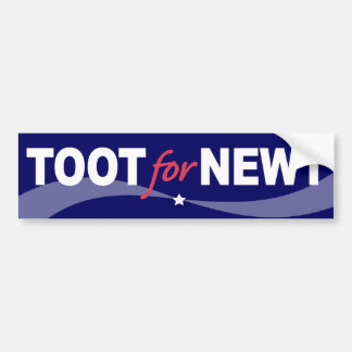 TOOT For NEWT Gingrich 2012 Car Bumper Sticker