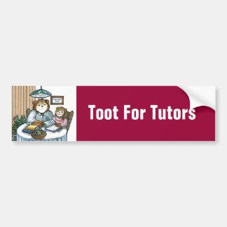Toot For Tutors Bumper Stickers