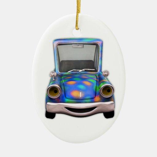 Toot! Toot! the Cute Little Cartoon Car Christmas Tree Ornaments