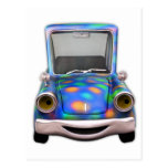Toot! Toot! the Cute Little Cartoon Car Post Card