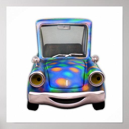 Toot! Toot! the Cute Little Cartoon Car Poster