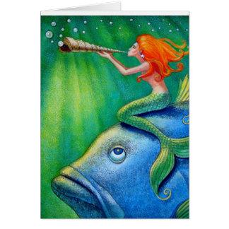 Toot Yur Own Seashell- Mermaid! Card