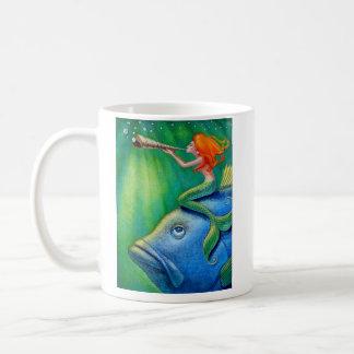 Toot Yur Own Seashell- Mermaid! Coffee Mug