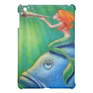 Toot Yur Own Seashell- Mermaid! iPad Mini Cover