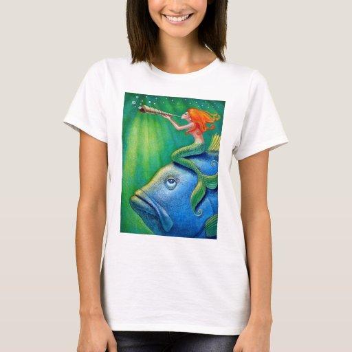 Toot Yur Own Seashell- Mermaid! T-Shirt