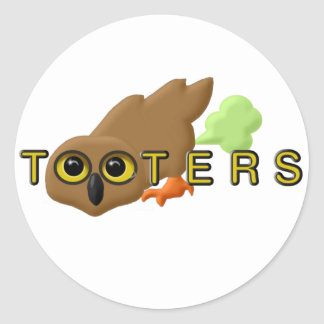 Tooters Round Stickers