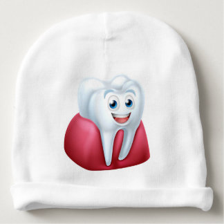 Tooth and Gum Cartoon Character Baby Beanie