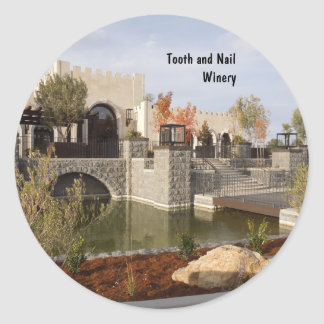 Tooth and Nail Castle Winery in Paso Robles Classic Round Sticker