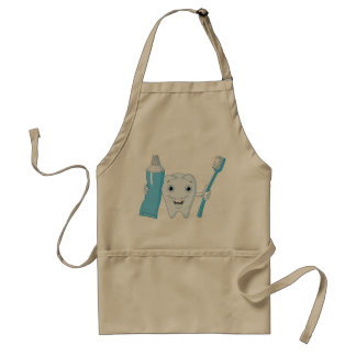 Tooth And Toothbrush Apron
