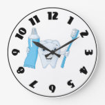 Tooth And Toothbrush Clock