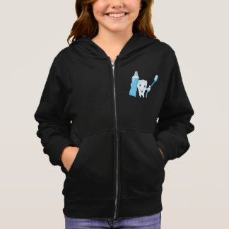 Tooth And Toothbrush Girls Hoodie