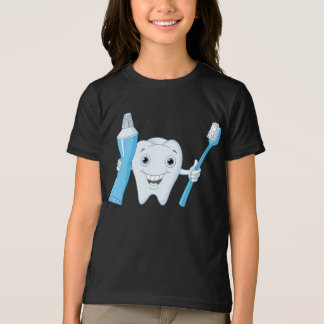 Tooth And Toothbrush Girls T-Shirt