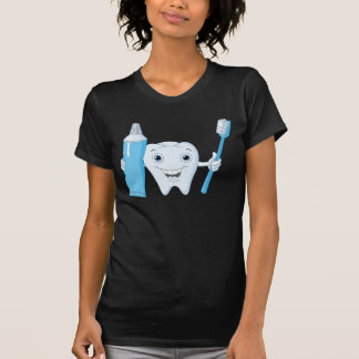 Tooth And Toothbrush Womens T-Shirt