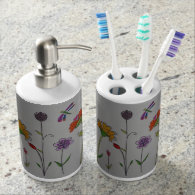 Tooth brush holder and soap dispenser
