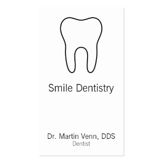 Tooth Business Card Template