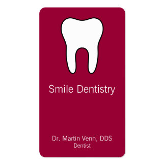 Tooth Double-Sided Standard Business Cards (Pack Of 100)