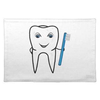 Tooth cartoon place mats