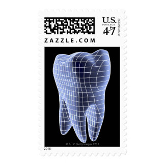 Tooth, computer artwork of a molar tooth postage