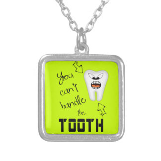 Tooth Decay Square Pendant Necklace