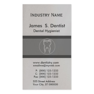 Tooth Drawing Modern Dentist Appointment Designs Double-Sided Standard Business Cards (Pack Of 100)